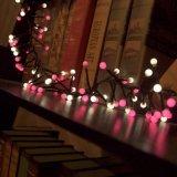 装飾のための夢みるような爆竹ストリングライト3m400LEDピンクの白