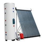Spalte unter Druck gesetzter Solarwarmwasserbereiter mit Hitze-Rohr-Sonnenkollektor
