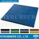 Рециркулированная резиновый плитка покрашенная мякишем резиновый, резиновый плитка пола, резиновый циновка