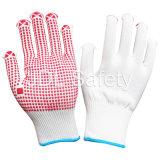 Nylon перчатка с ладонью поставленной точки PVC (S5101)
