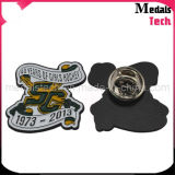 Custom Shape Cheap Die Struck Iron Metal Dance Lapel Pins / Badges