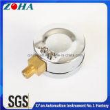 Stahlfall-Luftdruck-Anzeigeinstrument-Vorwahlknopf mit grünem rotem Scalse für Genauigkeit der Vorsicht-6MPa 2.5%