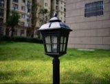 Alta luz solar brillante del jardín del plástico LED, luz solar LED, luz solar del sensor de movimiento