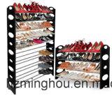 Черный металл обувает стеллаж для выставки товаров, магазин до 20 пар