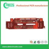 PWB rosso di doratura elettrolitica della mascherina della saldatura con i certificati di UL&ISO