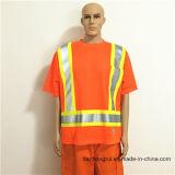 Vêtements de travail protecteurs de Hoodie de Gamrent de sûreté r3fléchissante grise orange de bande pour l'ouvrier