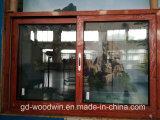 Woodwin de alta calidad de madera de grano de aluminio deslizante ventana con pantalla Ss