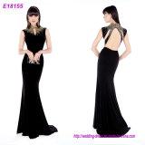 卸し売り方法女性の服Vの首の多色刷りのイブニング・ドレス