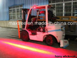 トラックの赤いゾーンの危険領域LEDのフォークリフトの警報灯のためのフォークリフトの安全