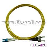 Duplex de fibre optique de SM de cordon de connexion de LC/PC-ST/PC
