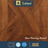 suelo laminado afilado encerado teca de la textura de la viruta de 8.3m m E1 AC3 HDF