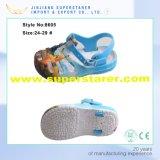 As crianças imprimiram sandália do miúdo de EVA da cinta superior do PVC a única