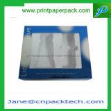 Cuidado de piel cosmético del perfume cosmético y rectángulo de empaquetado poner crema con la ventana del PVC