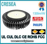 Dialux IesはLED高い湾ライトUFO Highbayランプ100W 150W 200W 240Wをファイルする
