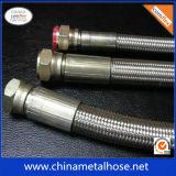 Manguito flexible de alta temperatura de Metel del acero inoxidable con el tejido