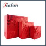 3D 빨간 심혼 발렌타인 데이 쇼핑 선물 종이 봉지를 주문을 받아서 만드십시오