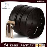 Lederne Mann-Riemen-Metallfaltenbildung-realer lederner Taillen-Riemen