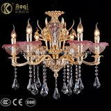 Indicatore luminoso a cristallo dorato di lusso del lampadario a bracci