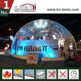 Bella tenda di alluminio della costruzione della tenda della sfera mezza del blocco per grafici per il festival