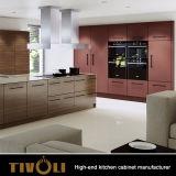 Formicaの現代白いキャビネットの顧客用食器棚上Tivo-0085hが付いている積層の食器棚