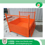 Personalizado plegable de acero de malla de alambre de la jaula de almacén con Ce