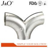 衛生ステンレス鋼Bpe 90度によって溶接される長い肘の管付属品のアクセサリ