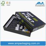 Aduana impresa dos pedazos de regalo del rectángulo del juego de tarjeta del rectángulo de almacenaje de empaquetado de papel con la tapa y la base