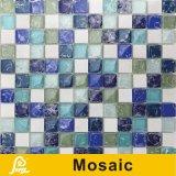 mosaico di disegno della crepa del ghiaccio di 8mm per la serie dell'Islanda della decorazione della parete (iride dell'Islanda/bianco nero/verde blu)