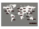 최신 인기 상품 LED 디지털 세계 시간 벽시계