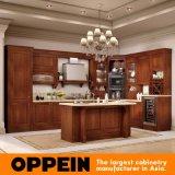 Oppeinの旧式なAlderの木製の贅沢な食器棚(OP16-120B)