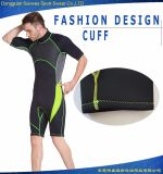 ネオプレンのサーフするダイビングのための背部ジッパーの不足分の袖のウェットスーツ(試供品)