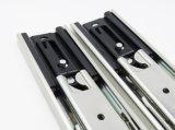 Diapositiva del cajón del rodamiento de bolitas de 3 dobleces con el mecanismo de bloqueo