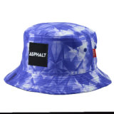 Chapéu feito sob encomenda do chapéu floral do chapéu da balde da pesca do poliéster do boné