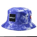 Chapéu colorido feito sob encomenda do verão do chapéu da cubeta da pesca do poliéster