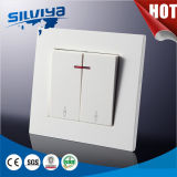 2 interruttore elettrico della parete di modo del gruppo 2 con indicatore luminoso