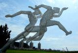 Sporten 3, OpenluchtTuin, het Beeldhouwwerk van het Metaal van het Landschap van de Tuin