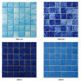 Tuile de mosaïque en céramique bleue pour la piscine