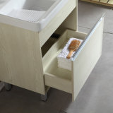 Floor-Mounted mehrschichtiger festes Holz-Badezimmer-Schrank