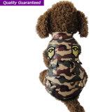Ropa del perro de la chaqueta del camuflaje de la capa del animal doméstico