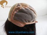 Peluca larga recta del pelo humano de Remy para la mujer