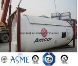 24000L 20FT الكربون الصلب 18bar، 22 بار دبابات الحاويات لغاز البترول المسال، الأمونيا مع صمامات