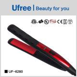 Do ferro liso vermelho do cabelo de Ufree Straightener ergonómico do cabelo