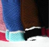 연약한 자카드 직물 스크린 접촉 뜨개질을 하는 장갑