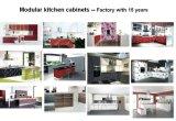 Gabinetes de cozinha acrílicos modernos de madeira do MDF (ZHUV)
