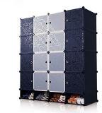 De in het groot Vouwende Plastic Garderobe van de Slaapkamer van het Kabinet voor Jonge geitjes