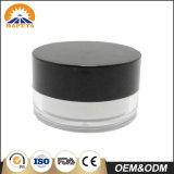 Frasco plástico cosmético do tampão preto para o cuidado de pele