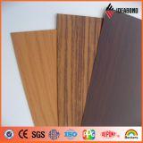 panneau composé en aluminium antiabrasion de couleur en bois de noix de 3-6mm (AE-301)