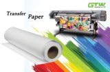 Papel de transferência seco rápido do Sublimation 80GSM para a impressora Inkjet de alta velocidade