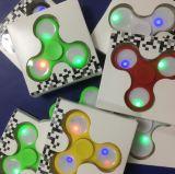 Leiden friemelen de LEIDENE van de Spinner Spinner van de Hand friemelen Stuk speelgoed friemelt de Spinner van de Hand met LEIDEN Licht