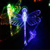 lumière pendante de libellule à piles fixée au mur de l'éclairage LED 50LED de 5m pour le décor de mariage de vacances